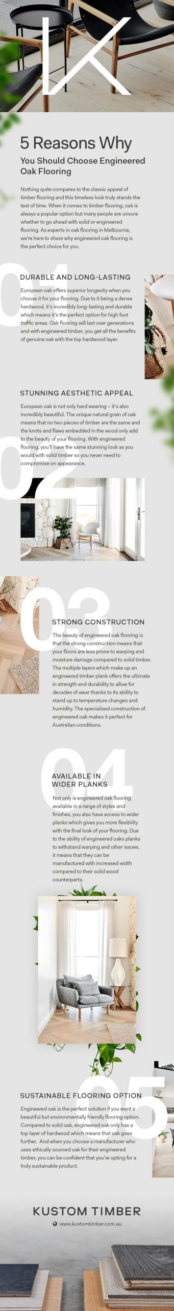 5 Reasons Why You Should Choose Engineered Oak Flooring - Infographics