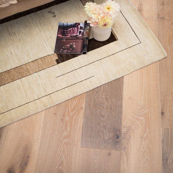Solid light timber flooring