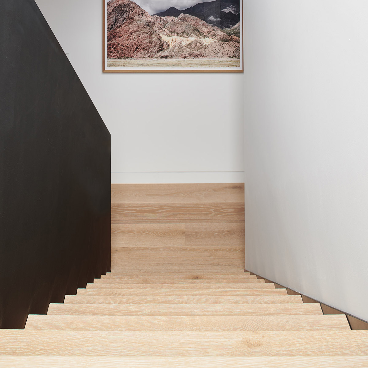 light colour timber stairs