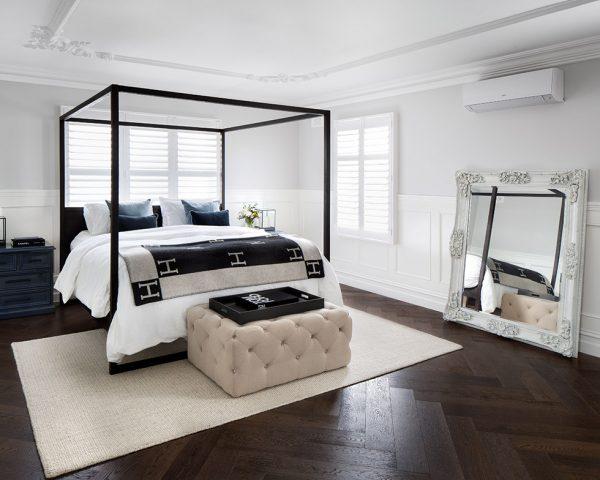 dark wood flooring installation