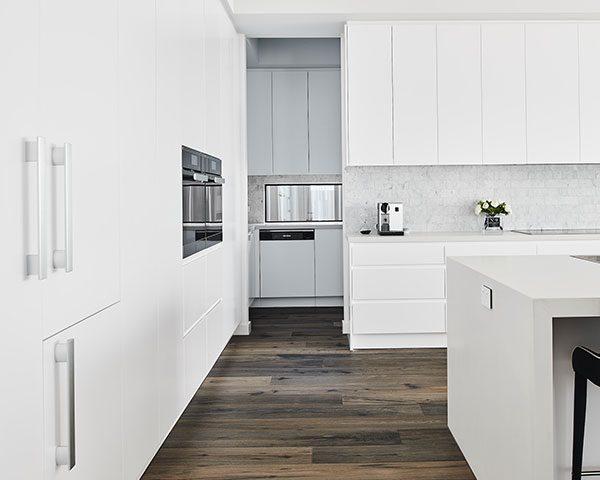 flooring installation in kitchen