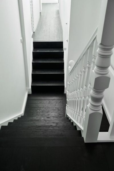 Plank Pattern Stairs