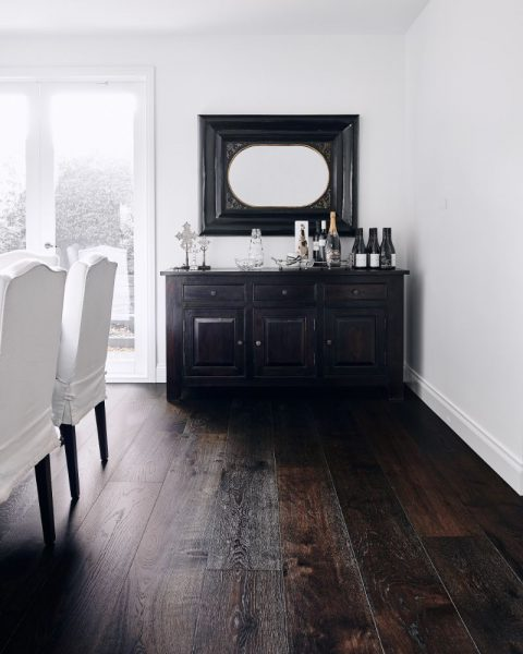 Black timber flooring Brighton