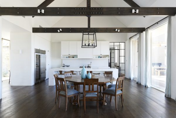dark colored timber flooring