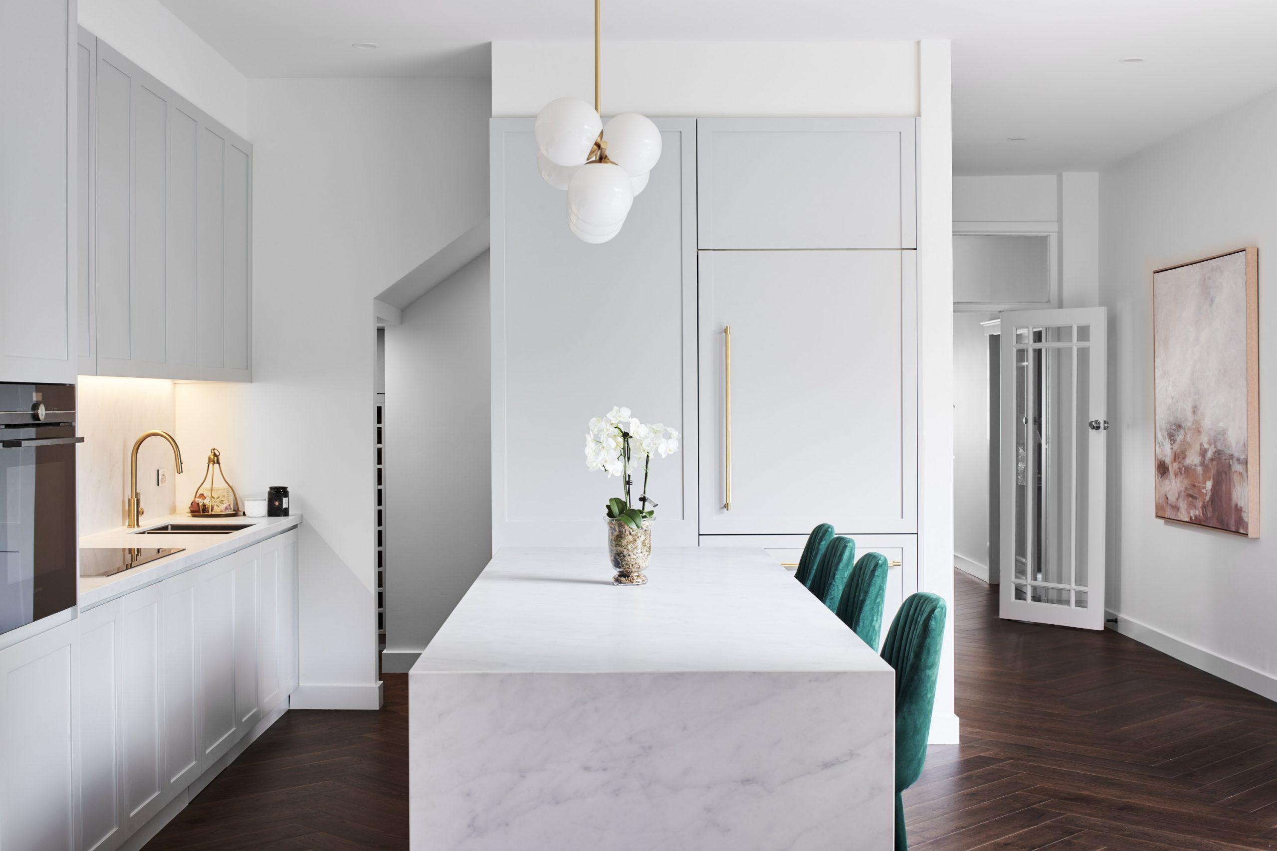 Warm fixtures and warm tones for interiors